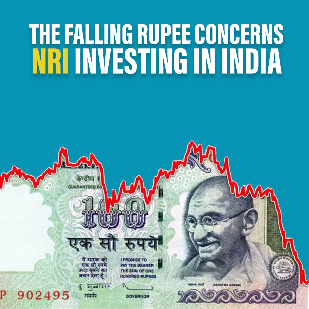 The Falling Rupee concern of an NRIs investing in India