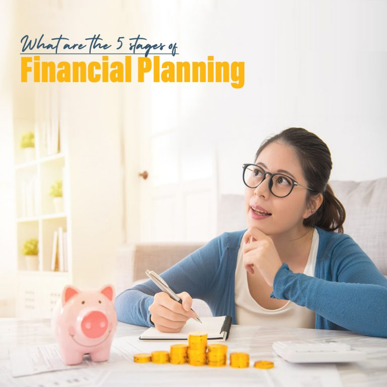 <p style='line-height:1.4; font-size:1.2em'> 5 Stages of Financial Planning in life </p>